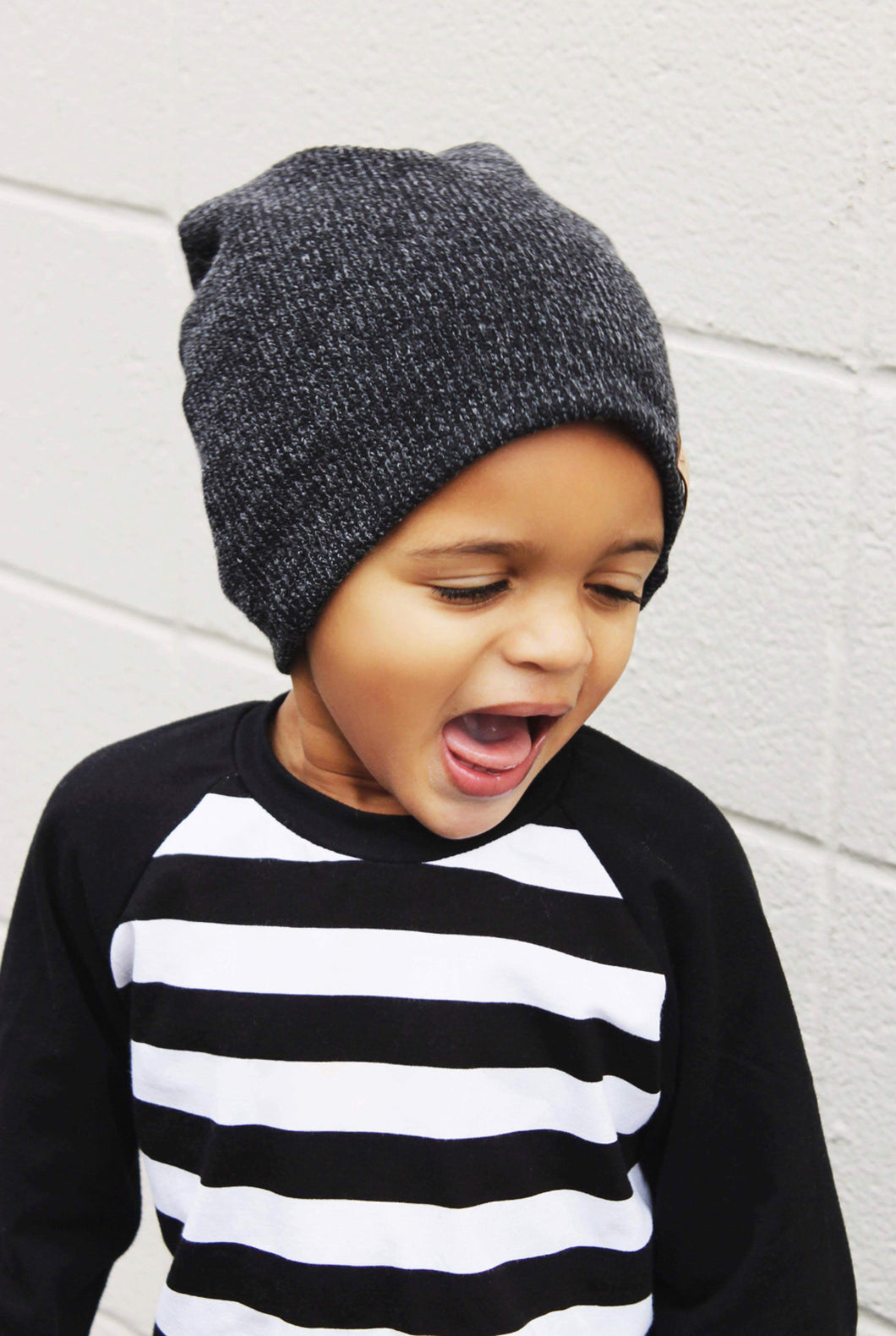 Sweater Gray Slouchy Beanie
