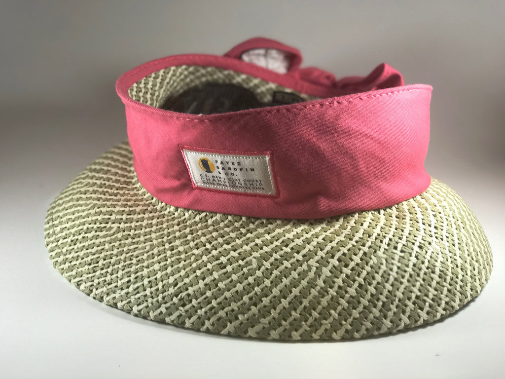 KATE LORD VISOR WITH COLORED BOWED BACK