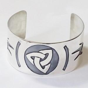 celtic silver upper arm bracelet