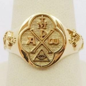 chrism gold religious signet ring