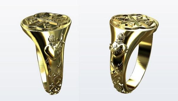 Religious gold ring