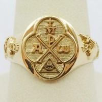 christian gold signet ring