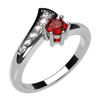 engagement ring ruby diamond