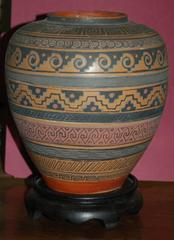 Aztec pattern ceramic
