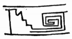 Aztec stairs pattern