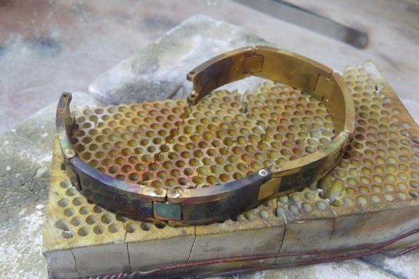 big gold bracelet creation