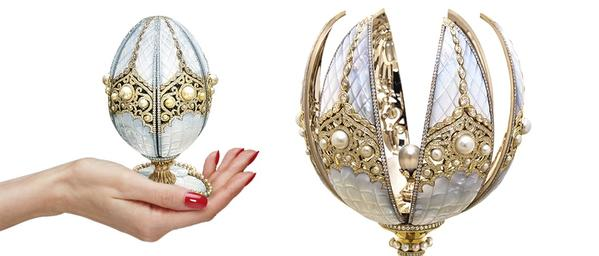 Faberge egg with pearls