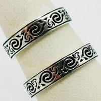 Celtic wedding rings duo