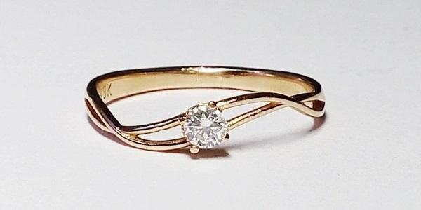 cheap diamond ring pink gold