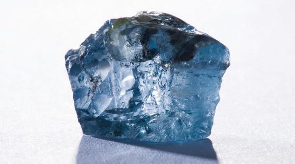raw blue diamond