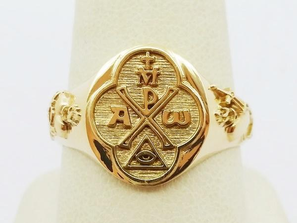 Christian gold ring for men