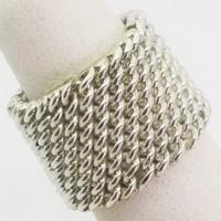 big silver curb chain bracelet