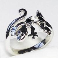 Lizard engagement ring
