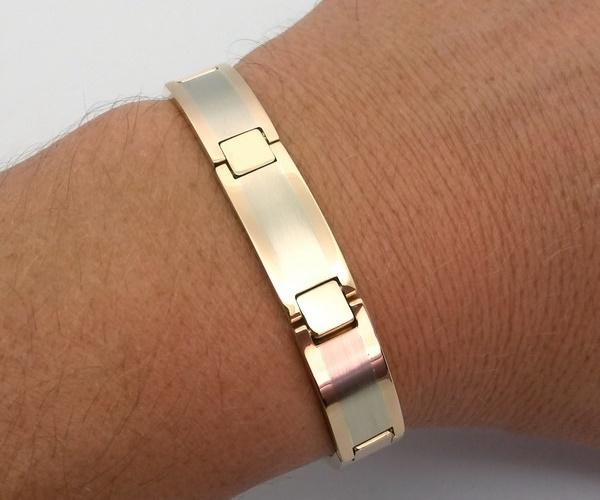 big gold bracelet for men