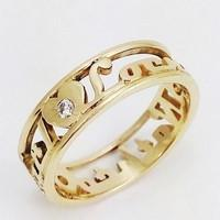 gold ring diamond first name