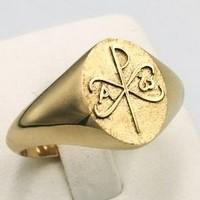 Chrism gold ring