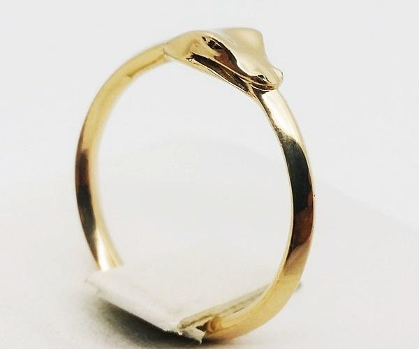 Ouroboros gold ring