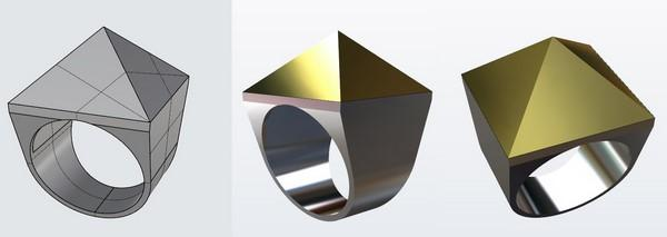 Digital model pyramid ring