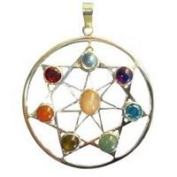 Pendant with gemstones