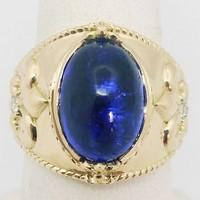 Tanzanite gold signet ring