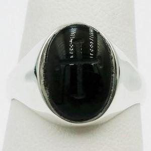Onyx ring engraved