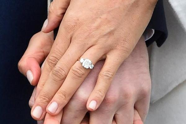 Meghan marble engagement ring