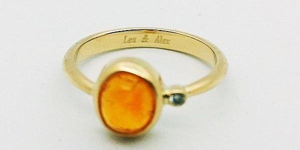 gold ring engraved names