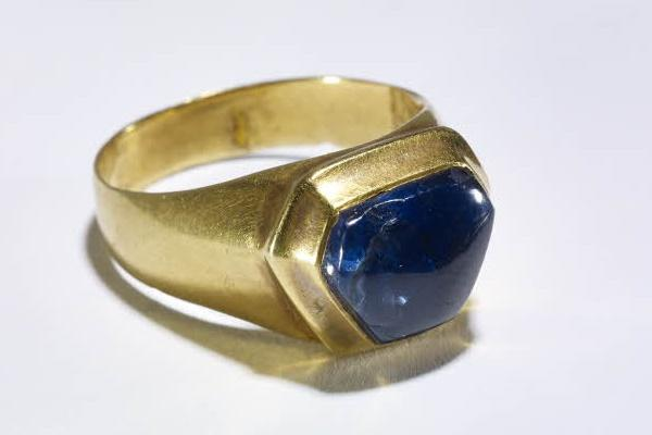 ancient engagement ring with sapphire