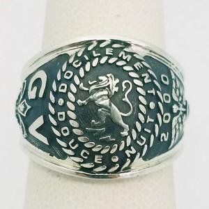 Lion signet ring for men