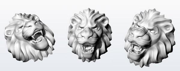 CAD head lion