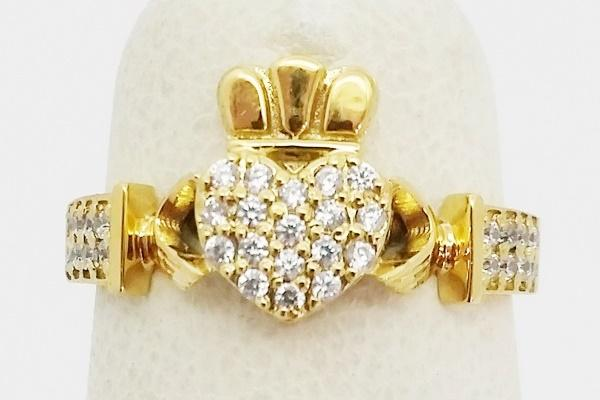 gold claddaph ring