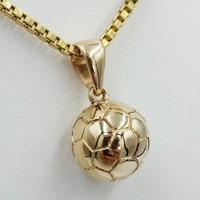football ball gold pendant