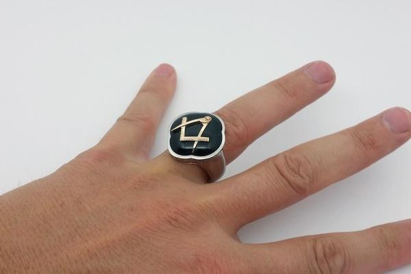 Freemason ring with onyx