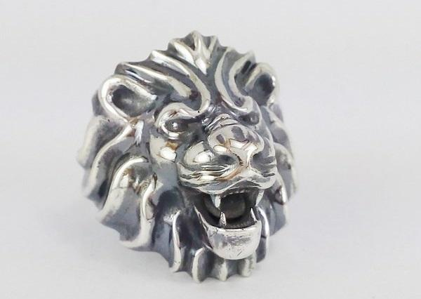 head lion ring