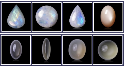 different moonstone colors
