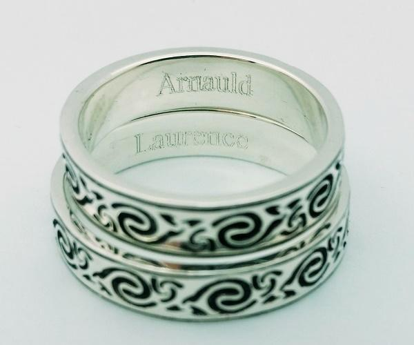 celtic wedding rings engraved