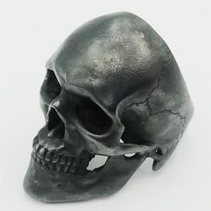 black silver skull ring for men