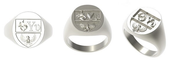 silver signet ring cad project