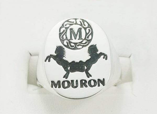 silver coat of arms ring