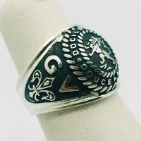 american silver ring