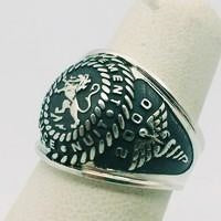 silver signet ring with silver