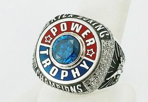 custom championship ring in silver
