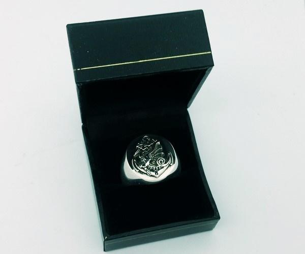 silver military ring for men
