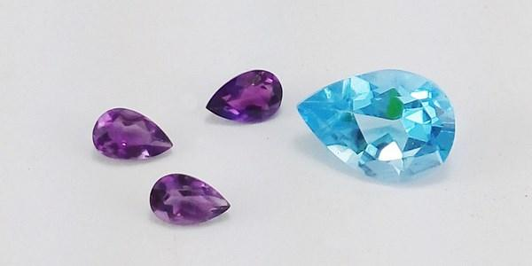 blue topaz and amethyst