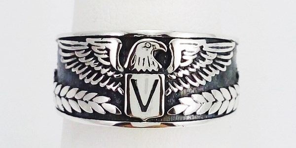 aigle silver signet ring