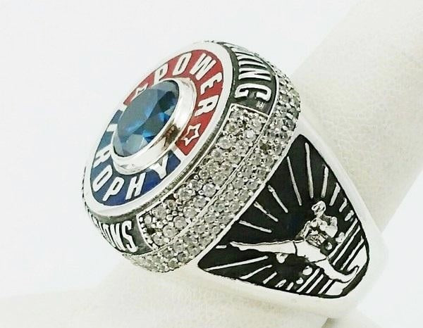 championship ring engraved in silver