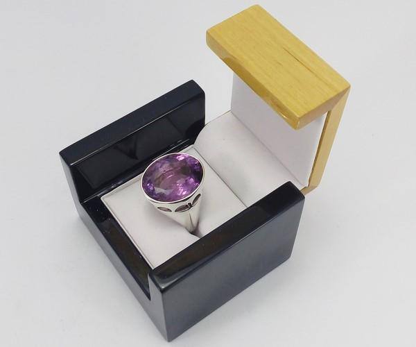 unboxing the episcopal ring from its box