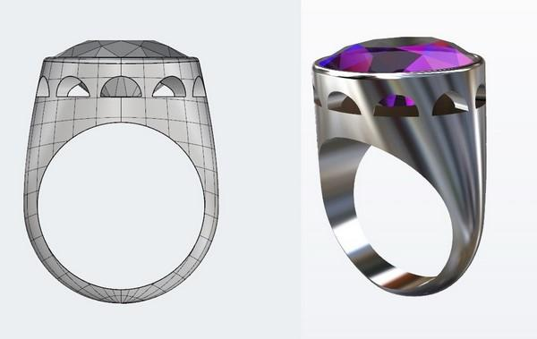 designing an episcopal signet ring with amethyst stone
