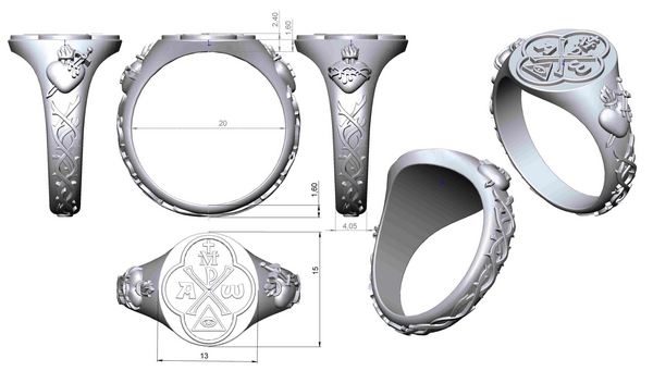 design of the religious gold ring