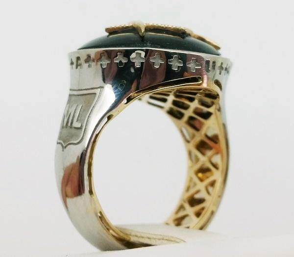 internal view of a masonic ring